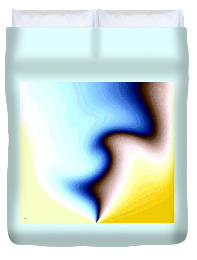 #faceprofileabstract Duvet Cover featuring the digital art Conceptual 7 by Will Borden