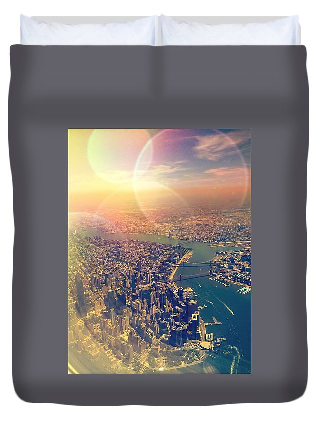 Nyc Duvet Cover featuring the photograph Concrete Jungle Dreams by Madison Adams