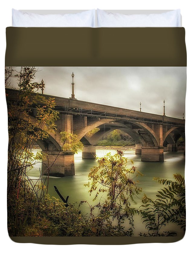 1914 Duvet Cover featuring the photograph Concrete Jungle by Marnie Patchett
