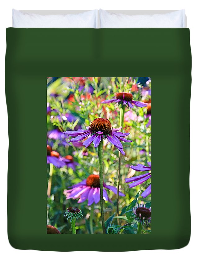 Coneflower Duvet Cover featuring the photograph Coneflower Pedals by Athena Mckinzie