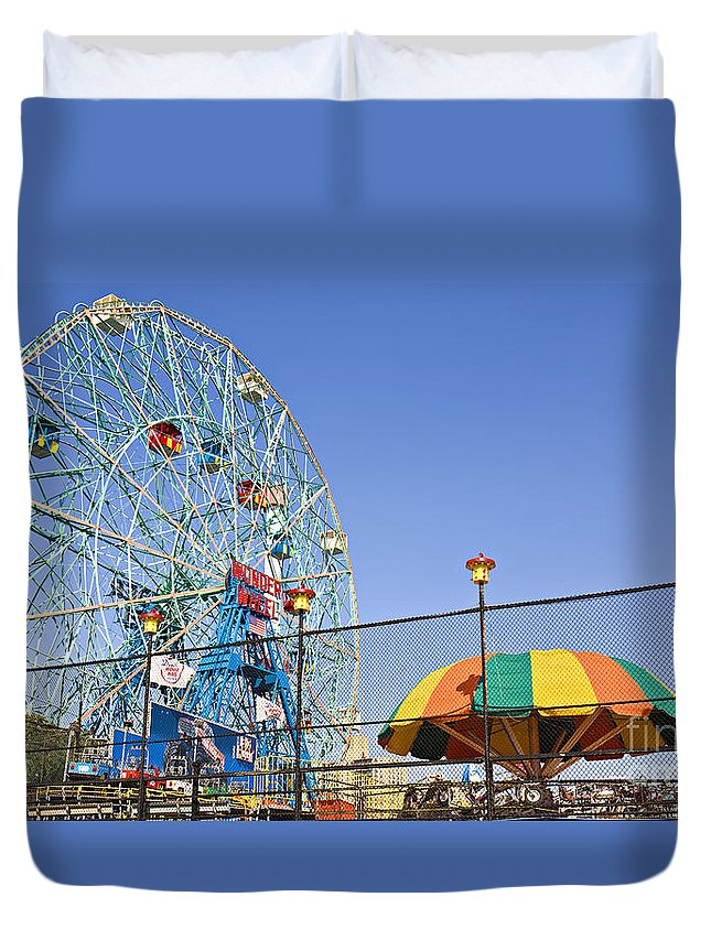 Coney Island Duvet Cover featuring the photograph Coney Island Memories 6 by Madeline Ellis
