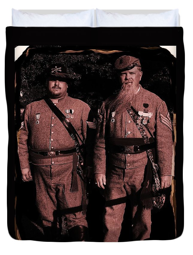 Tintype Duvet Cover featuring the photograph Confederate Tintype Civil War by Eric Schiabor