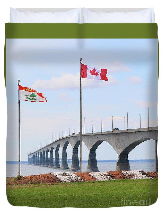 Prince Edward Island Duvet Cover featuring the photograph Confederation Bridge 5524 by Jack Schultz