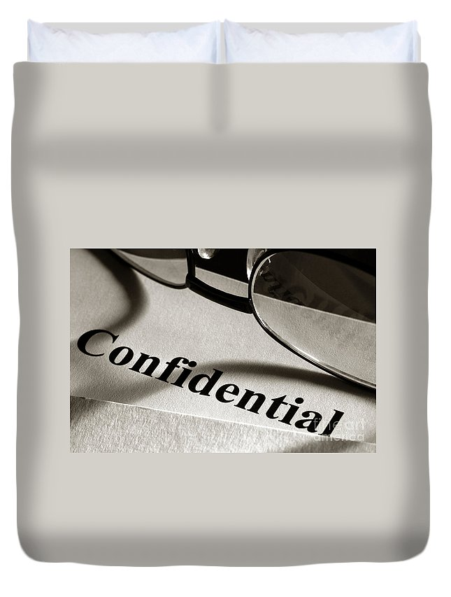 Clearance Duvet Cover featuring the photograph Confidential by Olivier Le Queinec