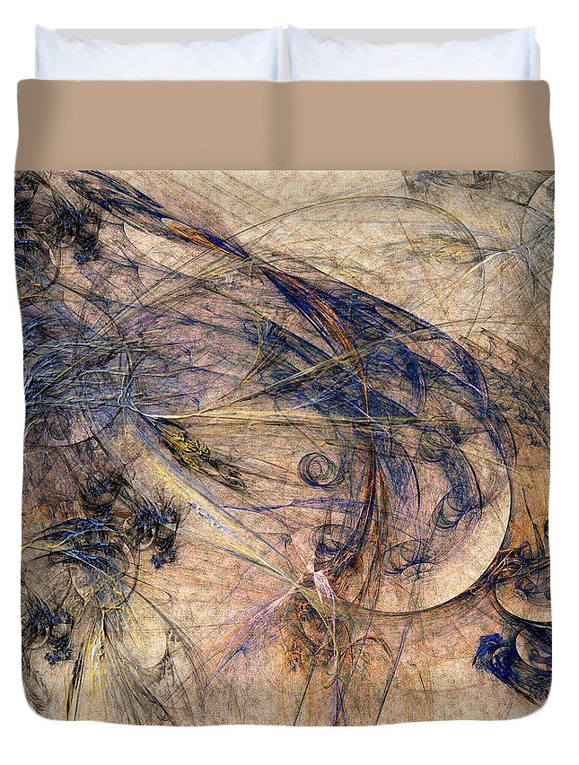 Abstract Duvet Cover featuring the digital art Conflicted by Casey Kotas