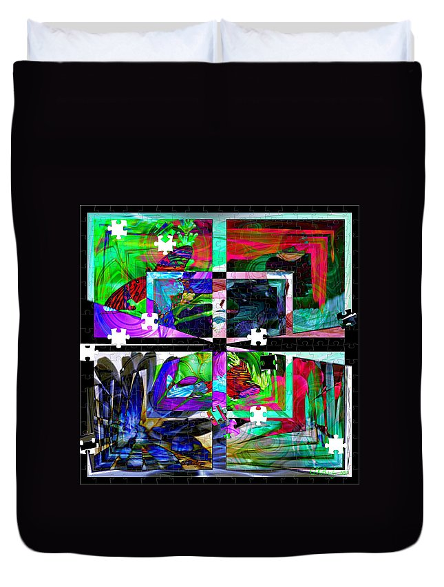 Abstract Art Duvet Cover featuring the photograph Confused by Donna Bentley