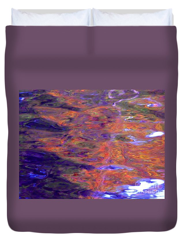 Abstract Duvet Cover featuring the photograph Contour Of Hot Energy Lines by Sybil Staples