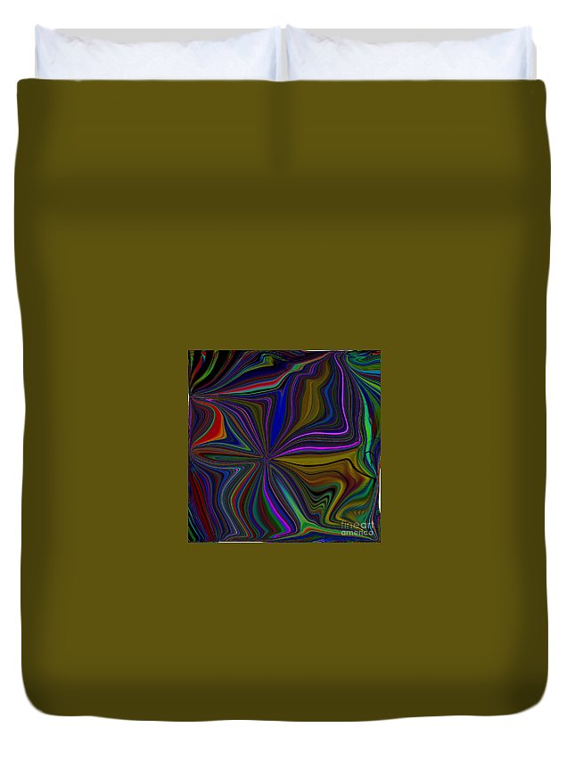 Color Duvet Cover featuring the digital art Conglomerate Of The Color Wheel by Debra Lynch