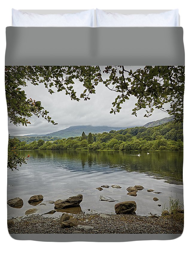 Coniston Duvet Cover featuring the photograph Coniston Water by Ralph Muir