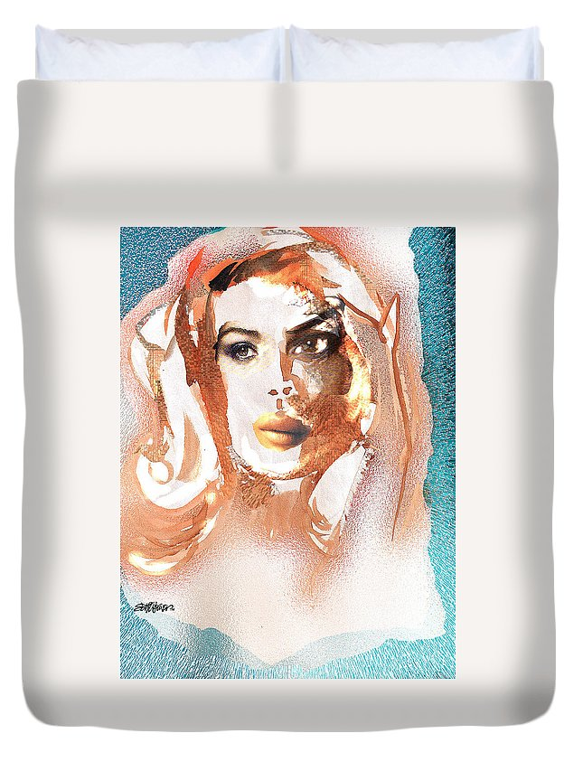 Conjure Duvet Cover featuring the digital art Conjure by Seth Weaver
