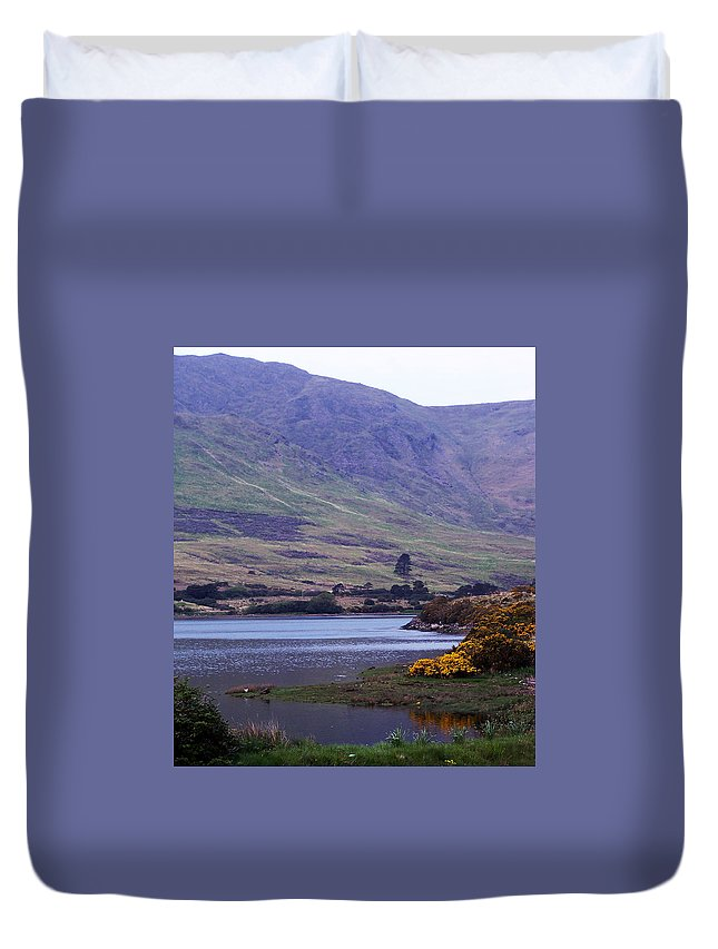 Landscape Duvet Cover featuring the photograph Connemara Leenane Ireland by Teresa Mucha