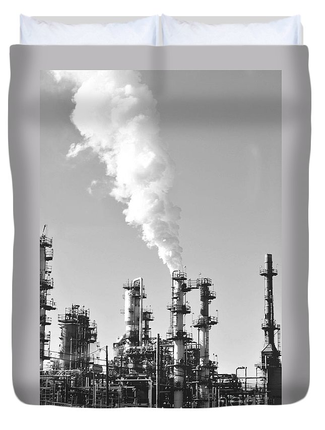 Oil Duvet Cover featuring the photograph Conoco by Anjanette Douglas