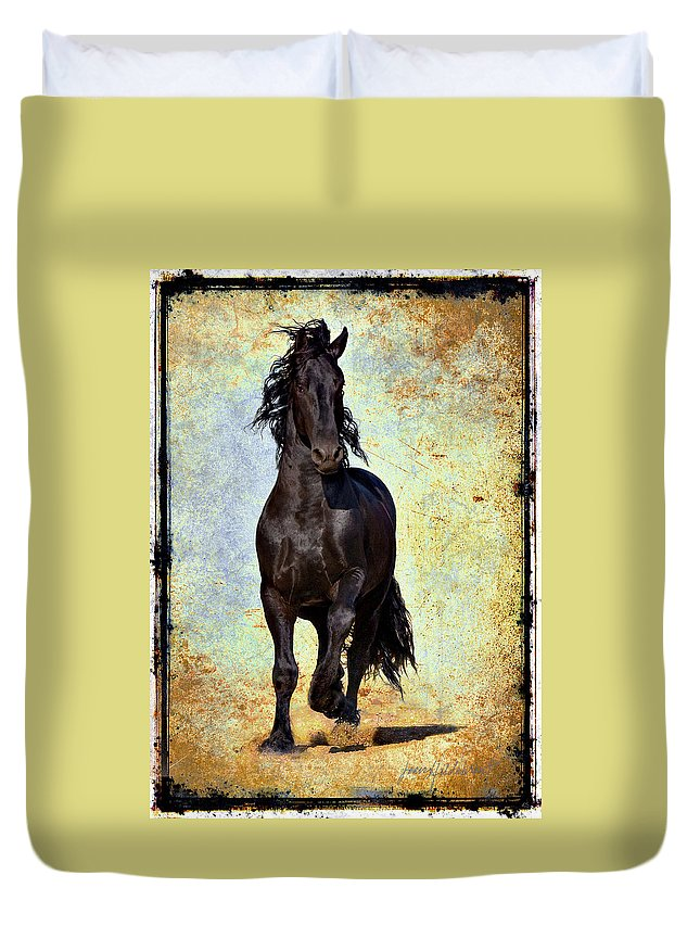 Duvet Cover featuring the photograph Conqueror by Jean Hildebrant