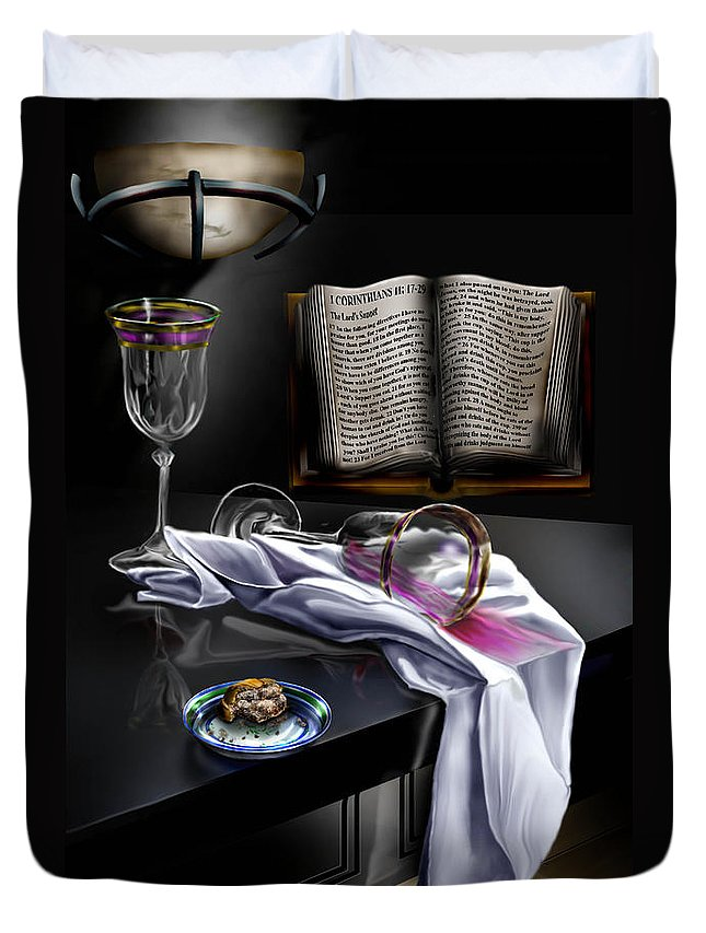 Still Life Painting Duvet Cover featuring the painting Consecrated by Reggie Duffie