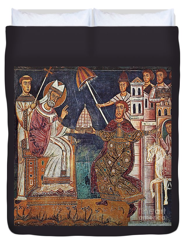 13th Century Duvet Cover featuring the painting Constantine I (c280-337) by Granger