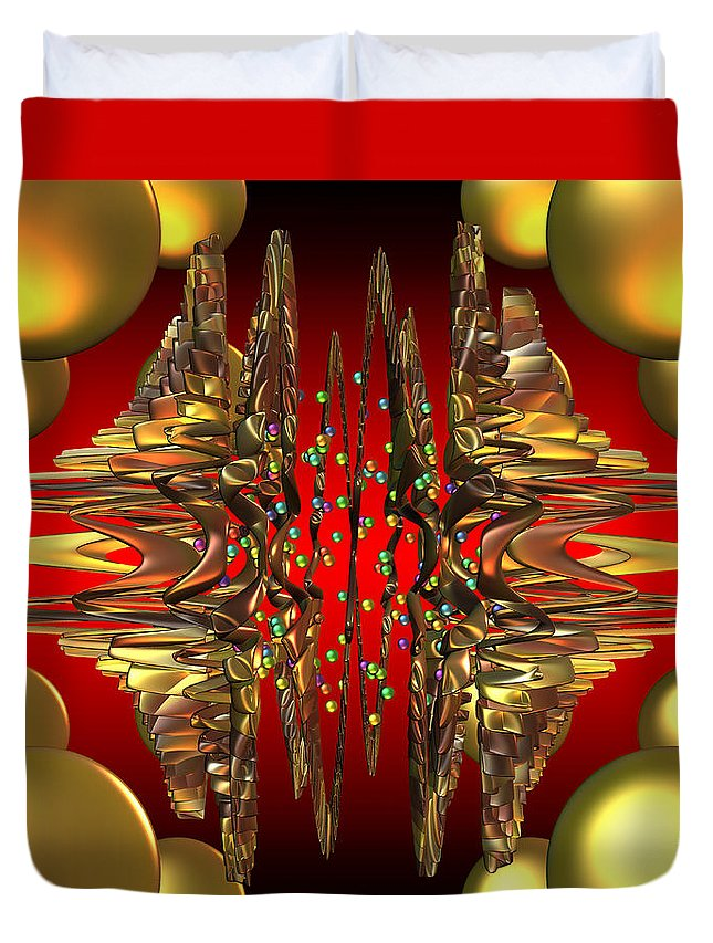 Abstract Art Duvet Cover featuring the digital art Containment Field-excaliber by Mark W Ballard