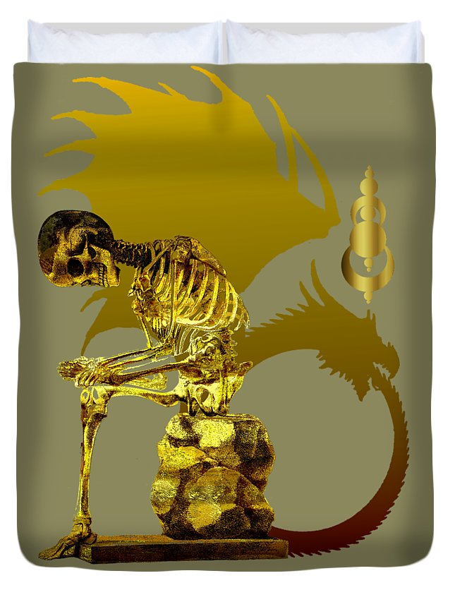 Robert Kernodle T Shirts Duvet Cover featuring the photograph Contemplating Mortality by Robert G Kernodle