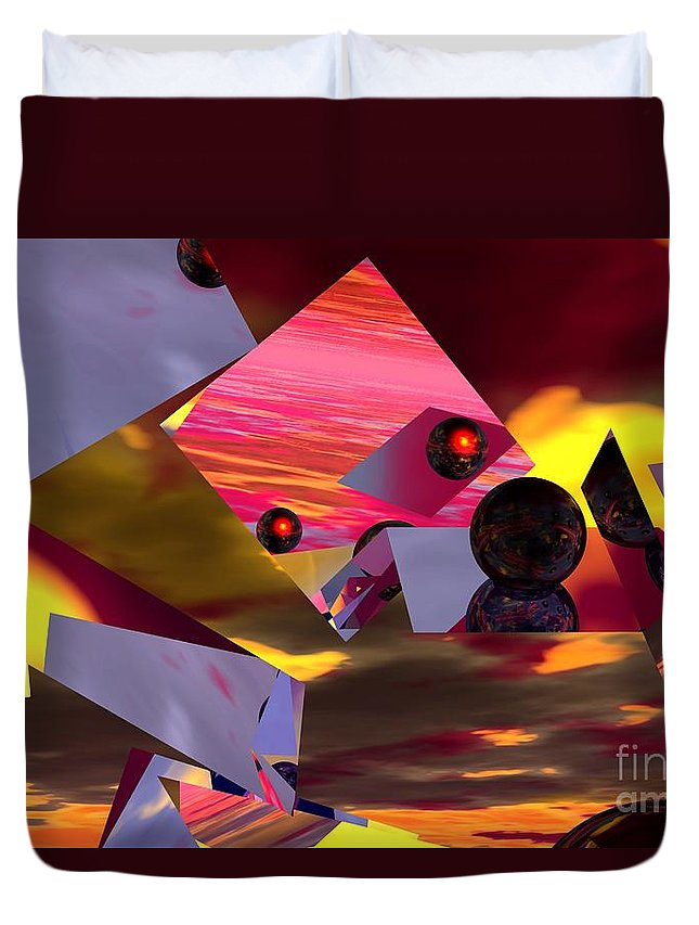 Duvet Cover featuring the digital art Contemplating The Multiverse. by David Lane