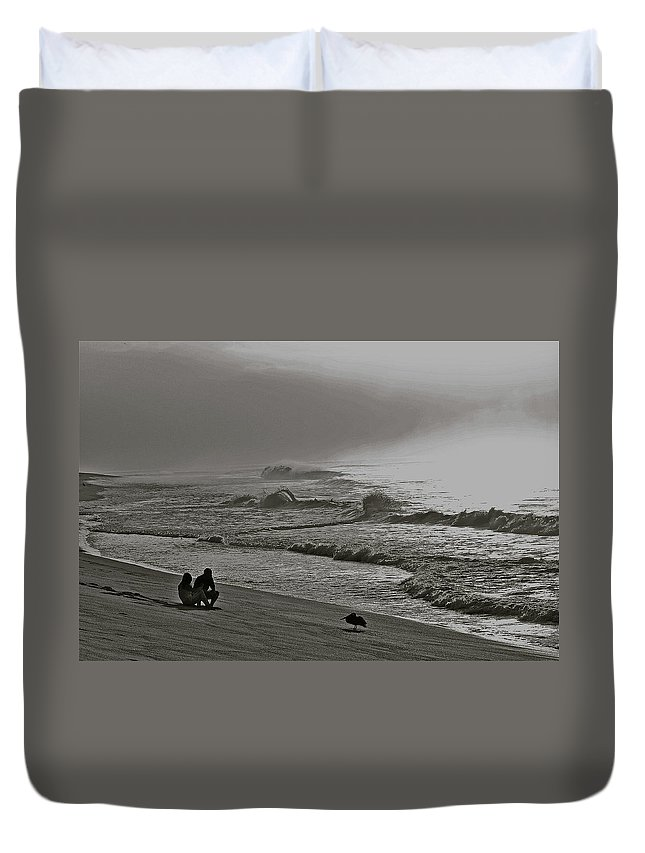 Sea Duvet Cover featuring the photograph Contemplation by Diana Hatcher