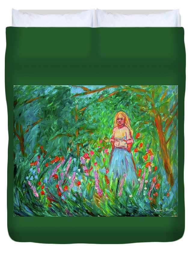 Landscape Duvet Cover featuring the painting Contemplation by Kendall Kessler