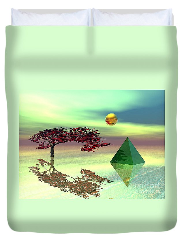 Fantasy Duvet Cover featuring the digital art Contemplative by Oscar Basurto Carbonell