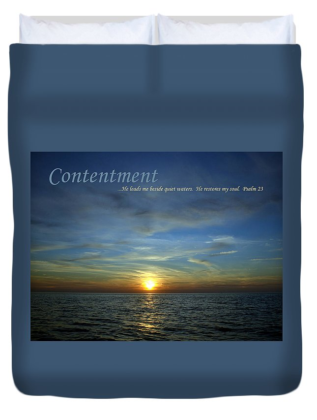 Contentment Duvet Cover featuring the photograph Contentment by Michelle Calkins
