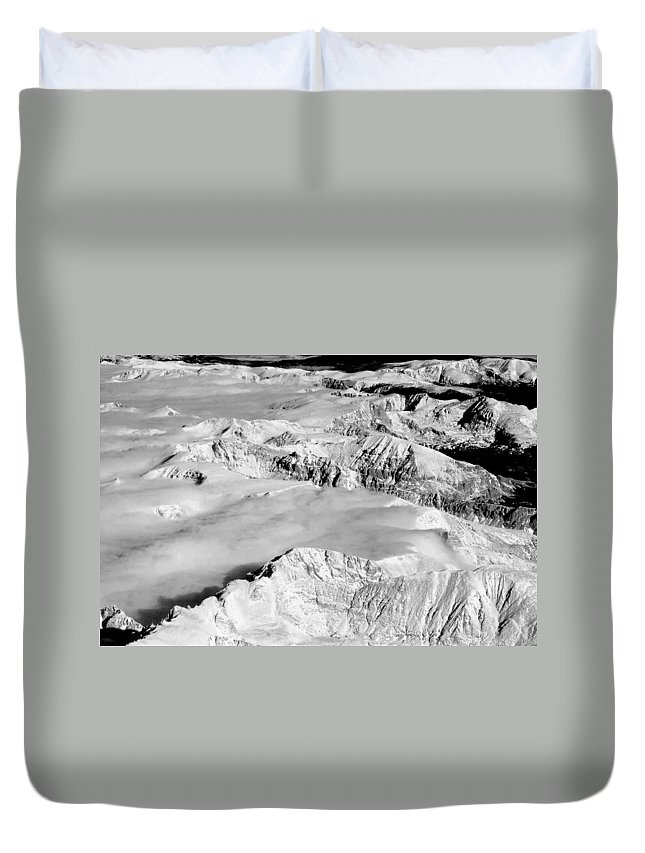 Continental Divide Duvet Cover featuring the photograph Continental Divide Clouds Rocky Mountains by James BO Insogna