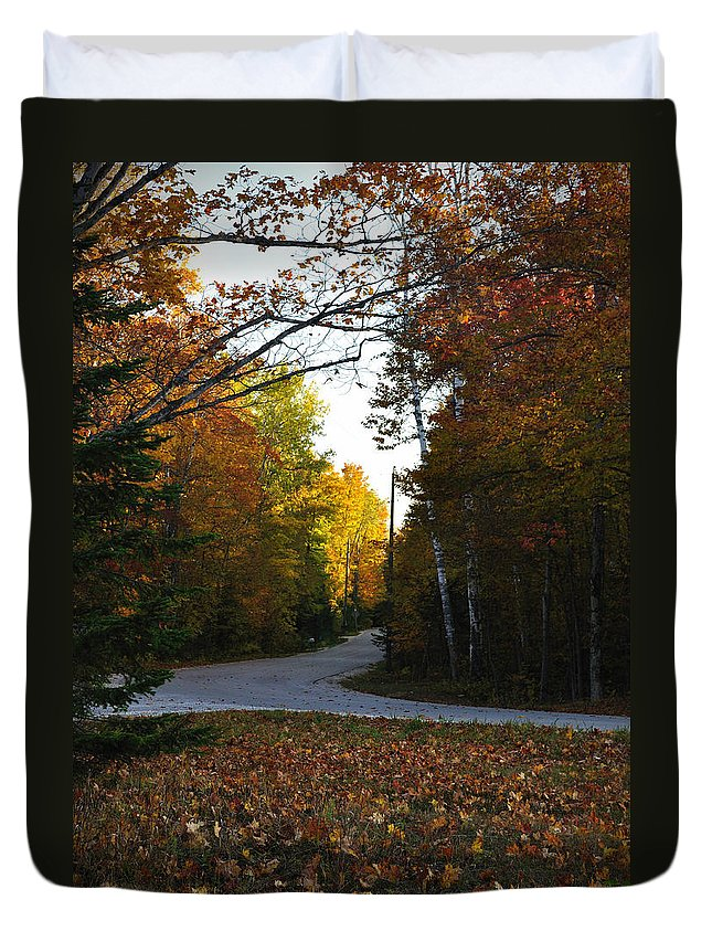 Fall Duvet Cover featuring the photograph Convergence by Tim Nyberg