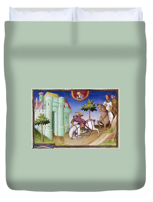 1410 Duvet Cover featuring the photograph Conversion Of Saint Paul by Granger