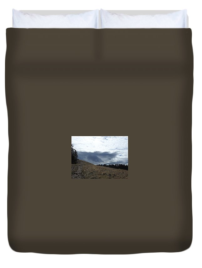 Duvet Cover featuring the photograph Convoluted Sky by Dan Hassett