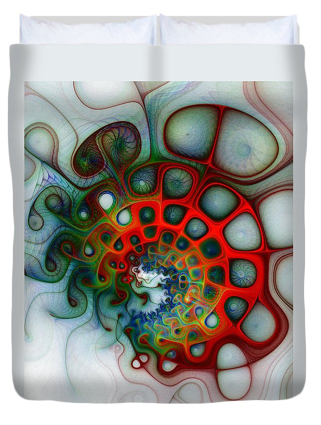 Digital Art Duvet Cover featuring the digital art Convolutions by Amanda Moore