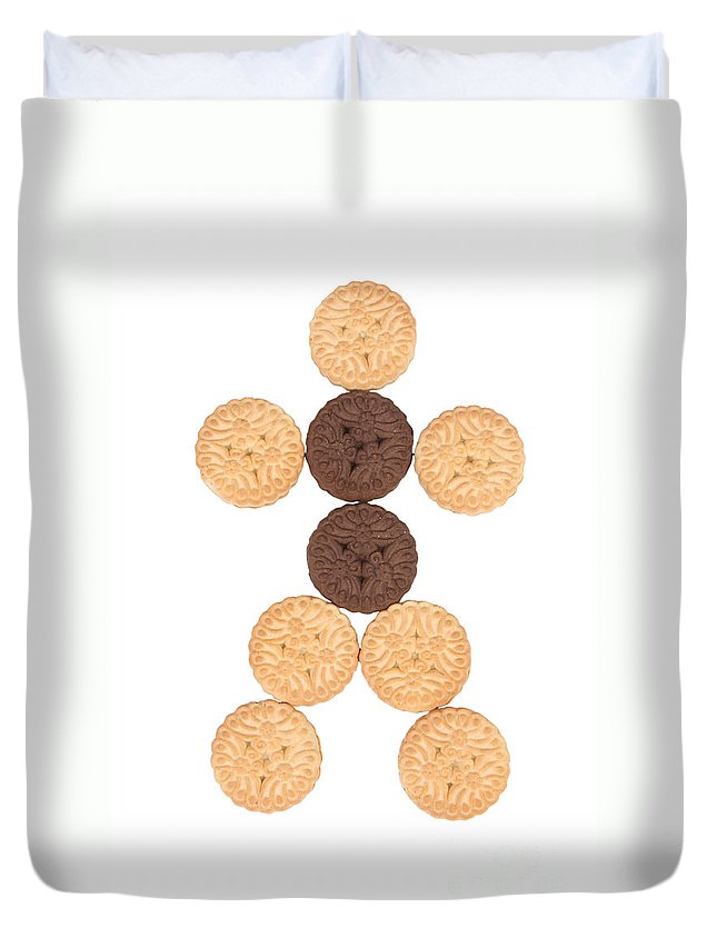 Cookies Duvet Cover featuring the photograph Cookie Man by James BO Insogna