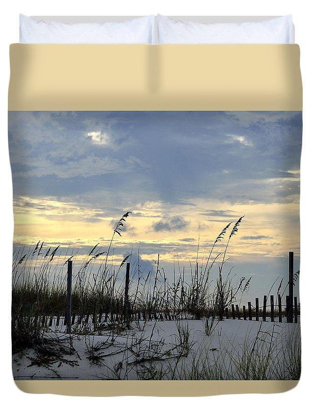 Beach Duvet Cover featuring the photograph Cool Breeze by Glenda Ward