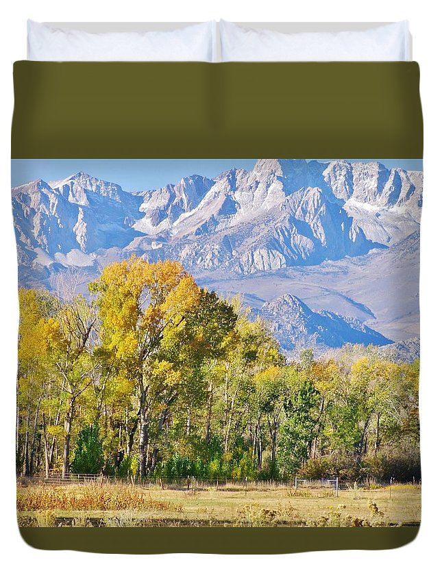 Sky Duvet Cover featuring the photograph Cool Days by Marilyn Diaz