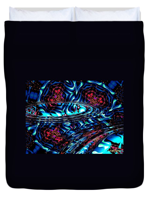 Abstract Duvet Cover featuring the digital art Cool Water by Robert Orinski