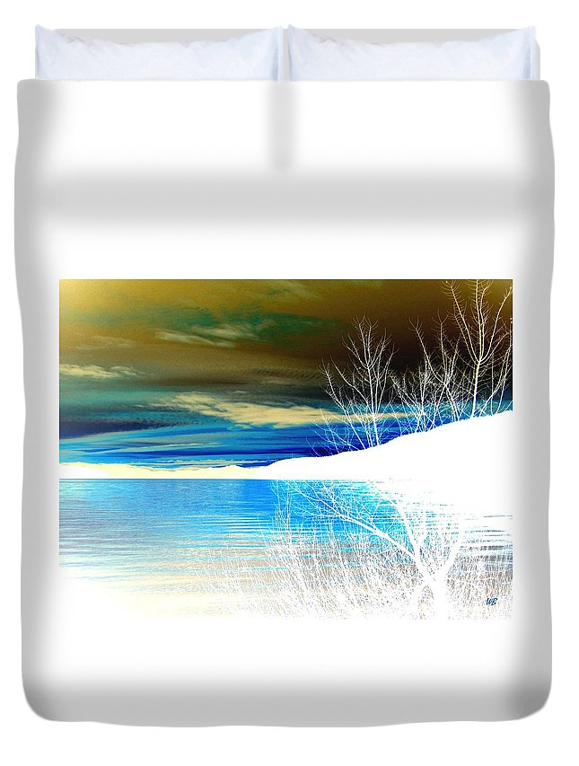 Winter Duvet Cover featuring the digital art Cool Waters by Will Borden