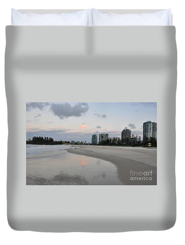 Gold Coast Duvet Cover featuring the photograph Coolangatta Reflections by Csilla Florida