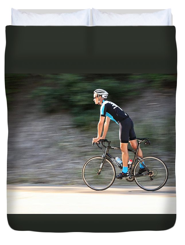 Cycling Duvet Cover featuring the photograph Cooling Off by Buck Buchanan
