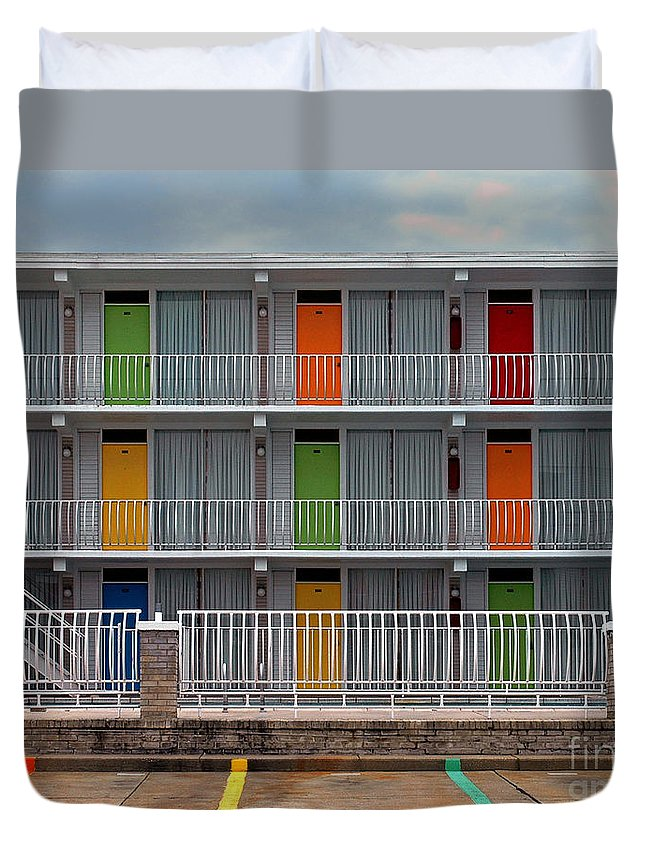 Bradley Duvet Cover featuring the photograph Coordinated Colors by Rich Despins