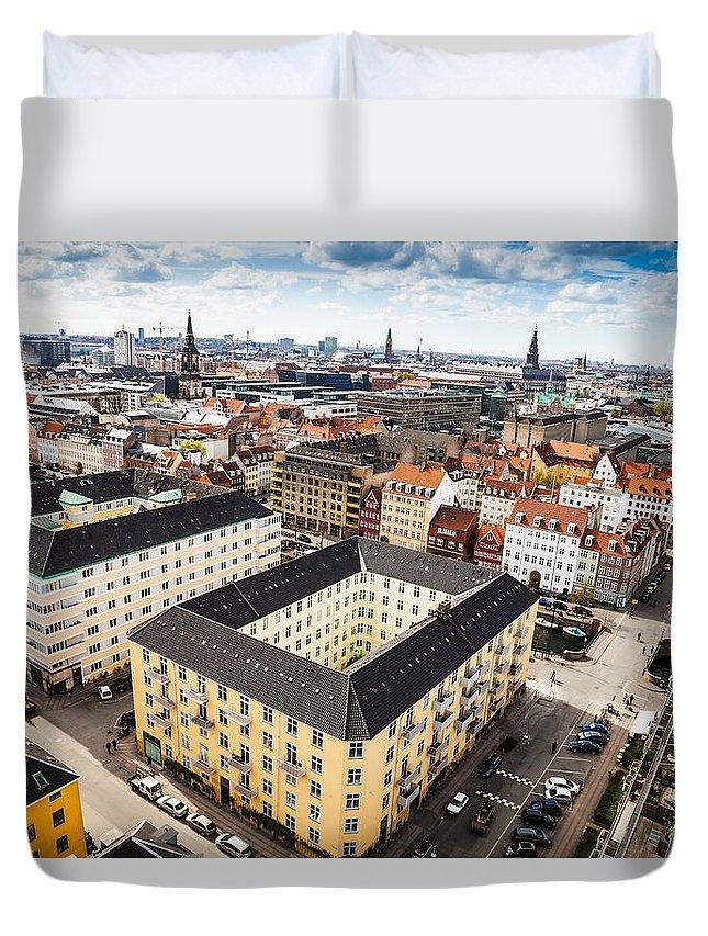 Copenhagen Duvet Cover featuring the photograph Copenhagen Skyline And Towers by Leonardo Patrizi