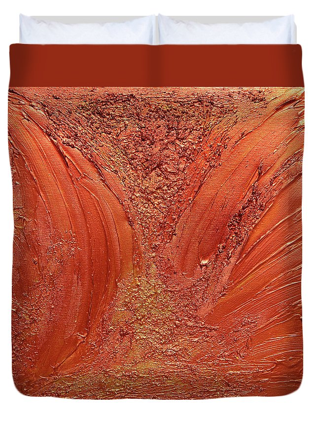 Abstract Duvet Cover featuring the photograph Copper Abstract by Julia Fine Art