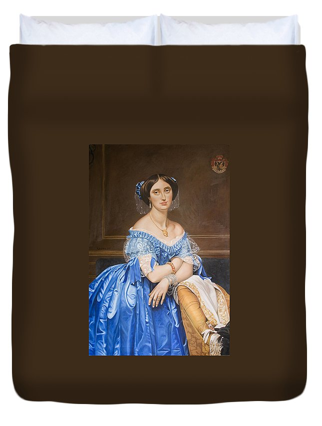 Ingres Duvet Cover featuring the painting Copy After Ingres by Rob De Vries