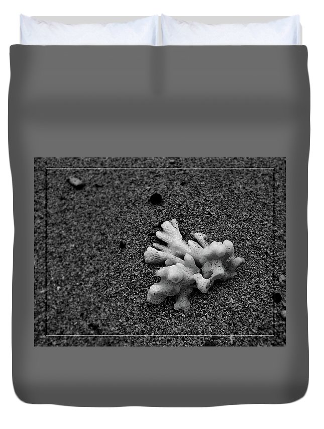 Corals Duvet Cover featuring the photograph Corals On The Sand by Alexey Dubrovin