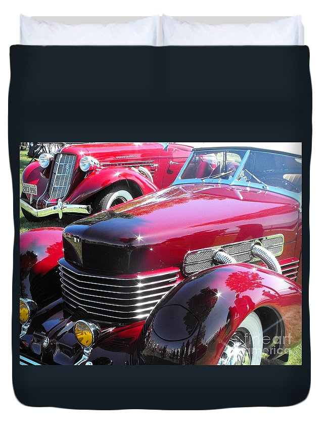 Cord Duvet Cover featuring the photograph Cord C Phaeton by Neil Zimmerman