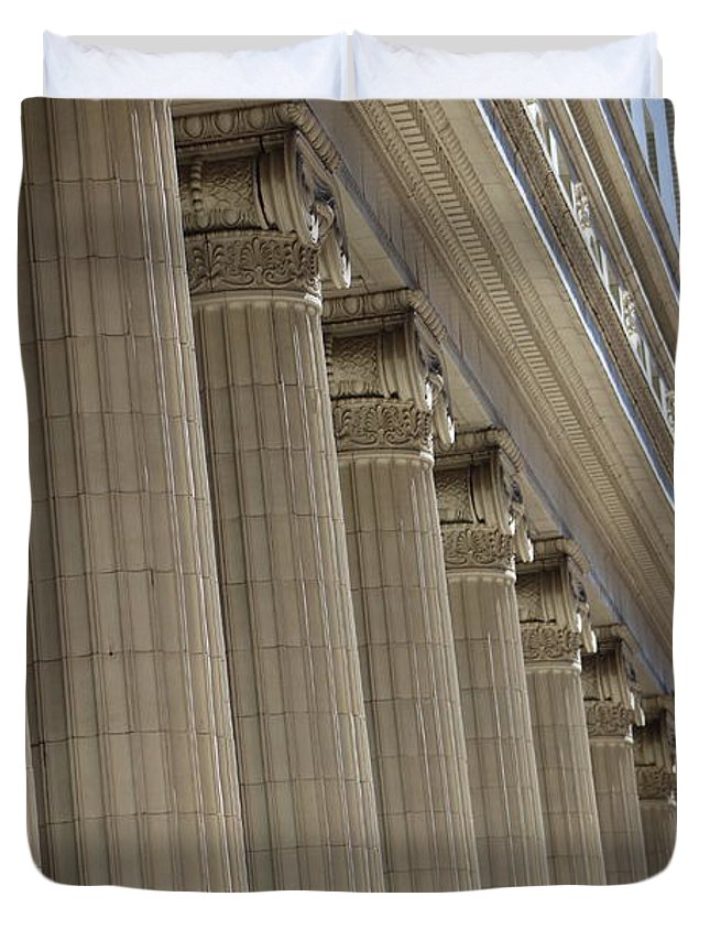 Corinthian Columns Of Union Station Chicago Duvet (Click Here)