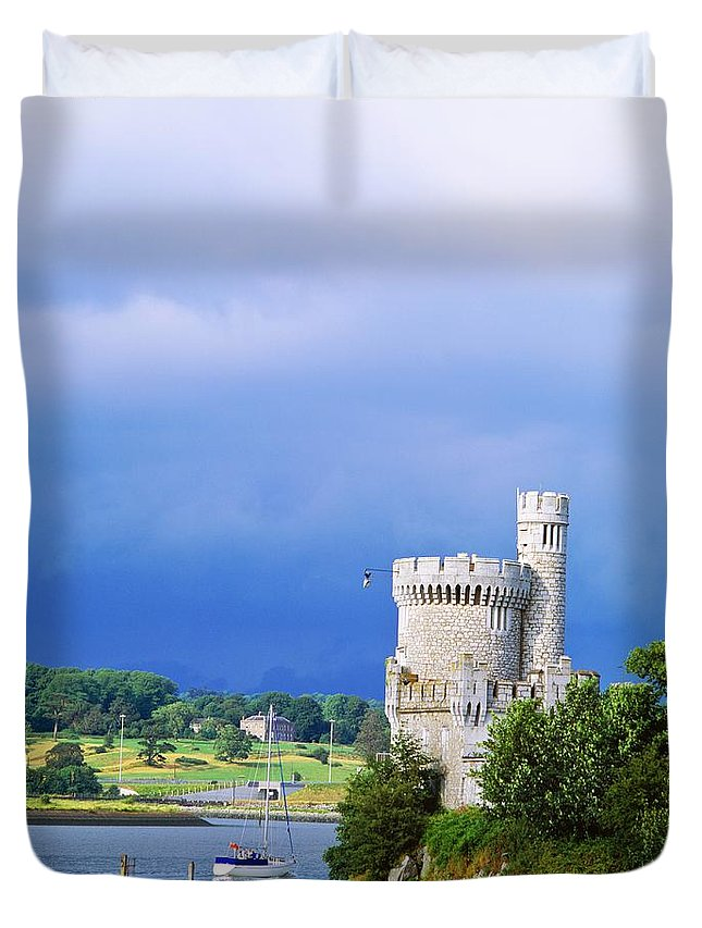 Attraction Duvet Cover featuring the photograph Cork City, Blackrock Castle by The Irish Image Collection