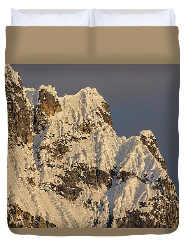 Alaska Duvet Cover featuring the photograph Cornices On The Rooster Comb by Tim Grams