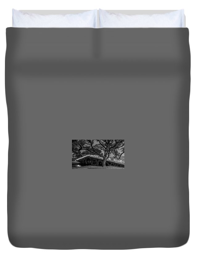 Landscape Duvet Cover featuring the photograph Corolla Bridge by William Harrison