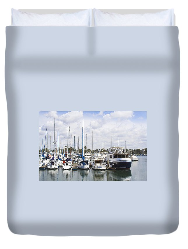 Coronado Duvet Cover featuring the photograph Coronado Boats II by Margie Wildblood