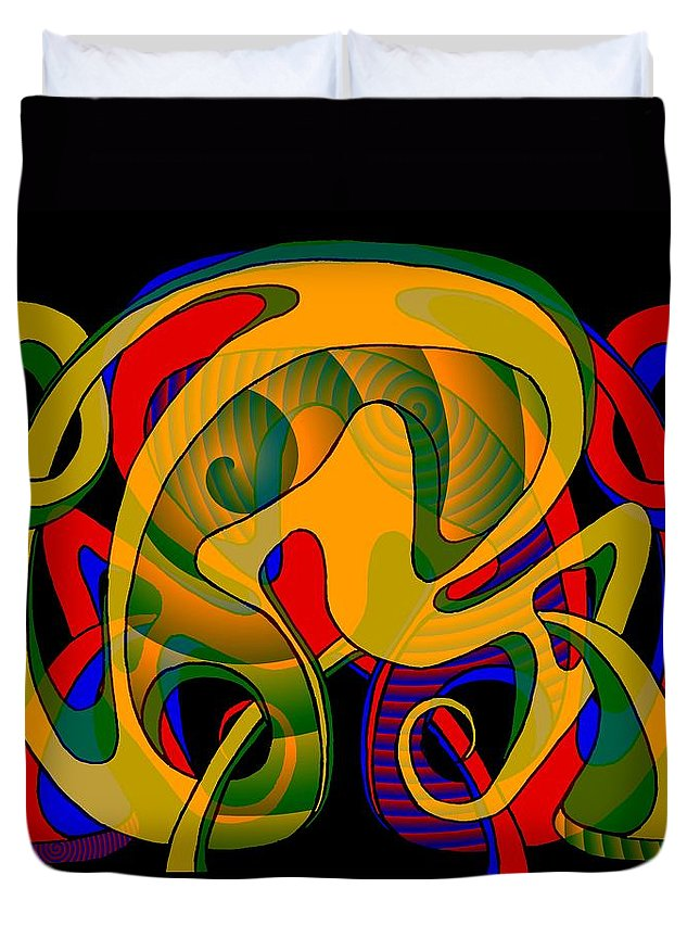 Life Duvet Cover featuring the digital art Corresponding independent Lifes by Helmut Rottler